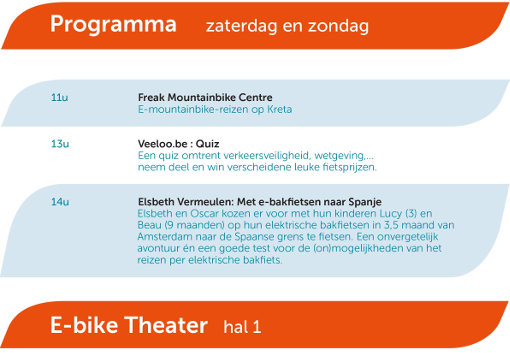 e-bike theater programma
